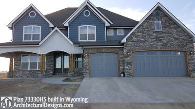 House Plan 73330HS client-built in Wyoming! - photo 002