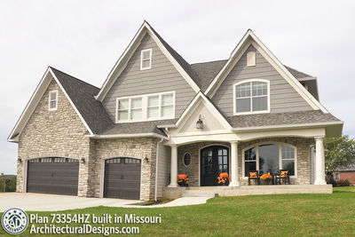 Exclusive House Plan 73354HS comes to life in Missouri - photo 002