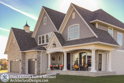 Exclusive House Plan 73354HS comes to life in Missouri - photo 001