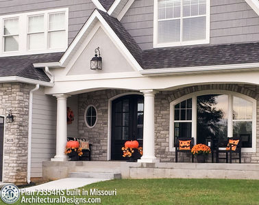 Exclusive House Plan 73354HS comes to life in Missouri - photo 003