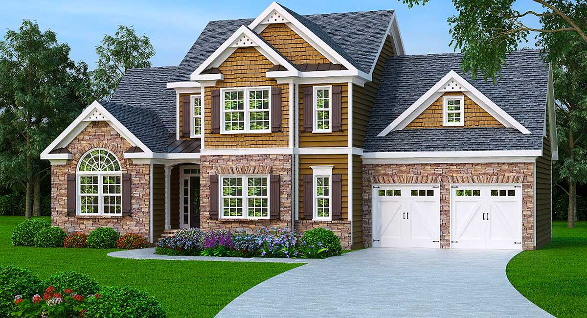 2 Story Master Down Home Plan - 75402GB
