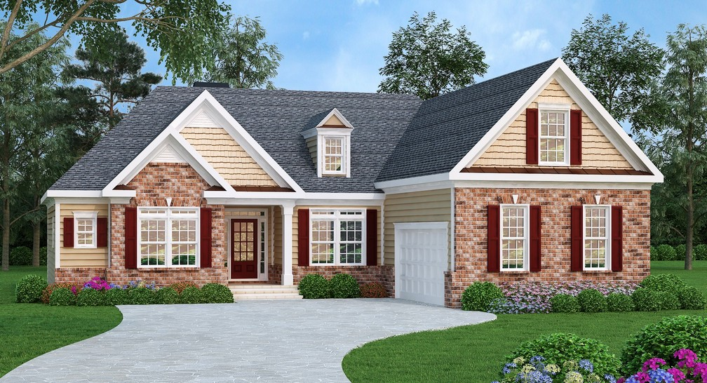 Split bedroom ranch home plan 75476gb architectural - What is a ranch house ...