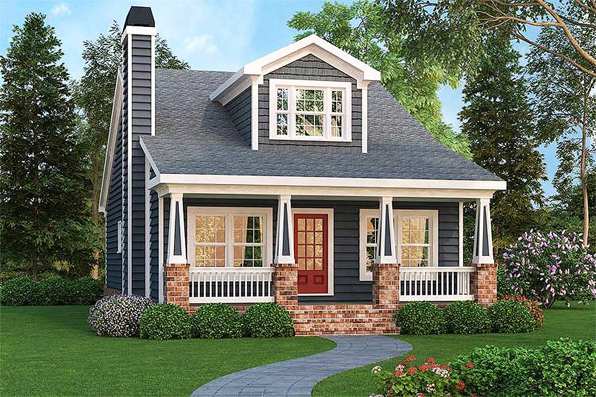 Craftsman bungalow with optional bonus 75499gb - What is a craftsman home ...