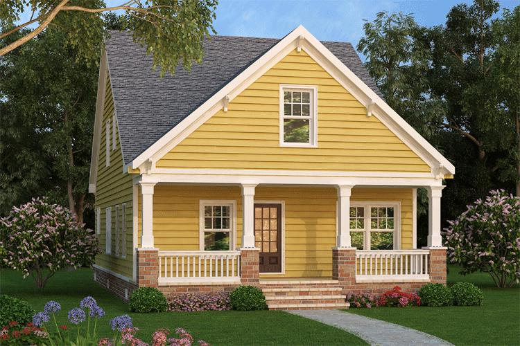Narrow Lot Cottage 75532gb Architectural Designs