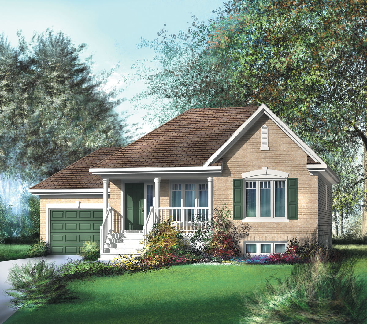 Traditional Bungalow House Plan - 80362PM