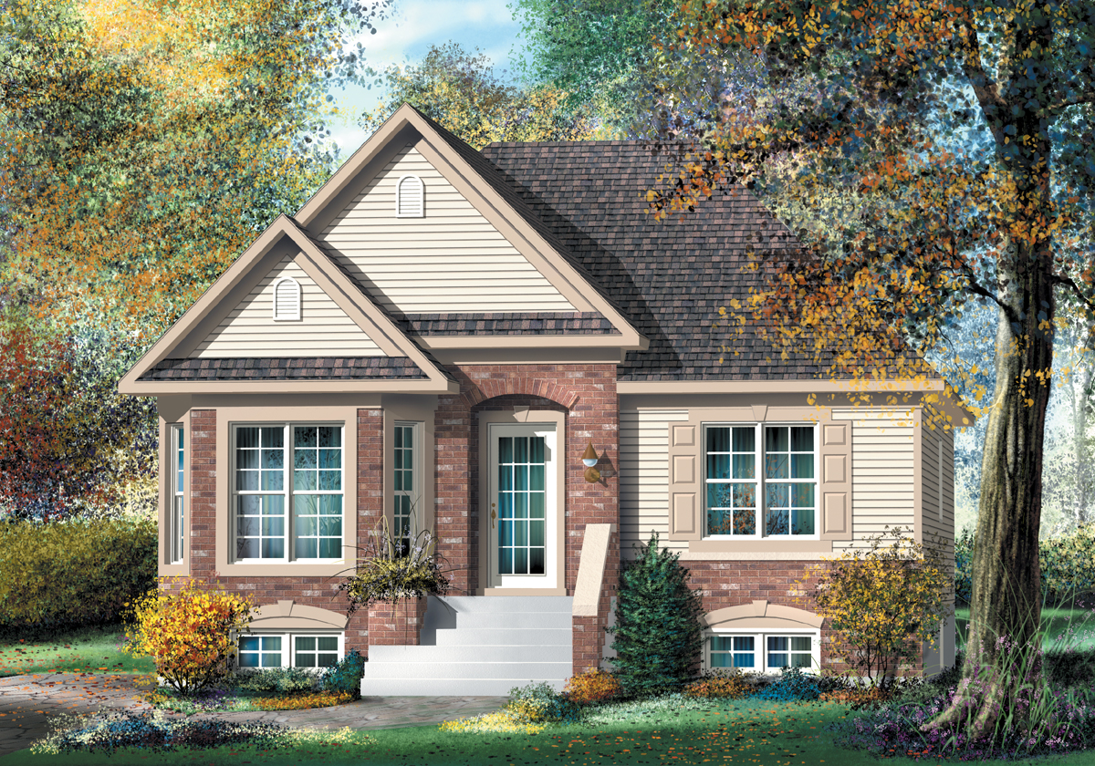 Compact Traditional Split-Level Plan - 80391PM ...