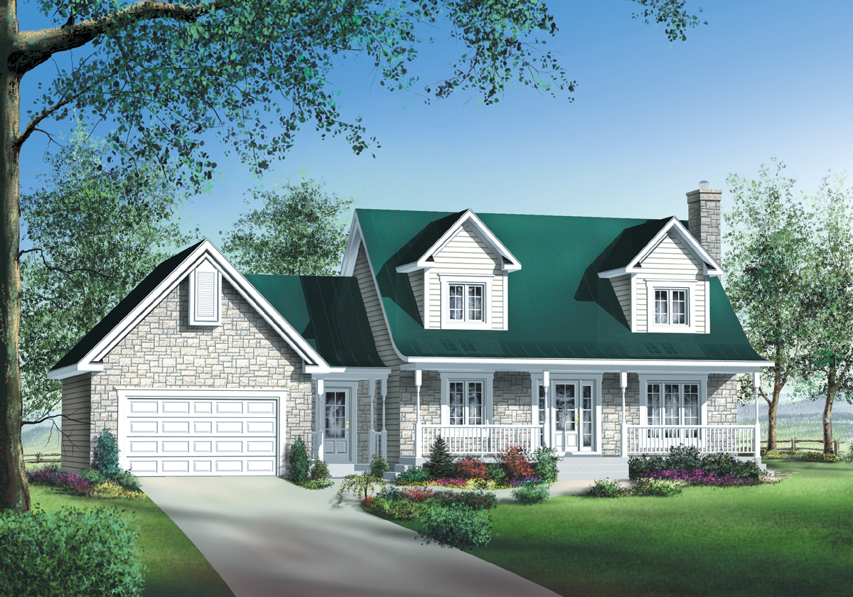 Stone Brick Or Siding House Plan 80470pm
