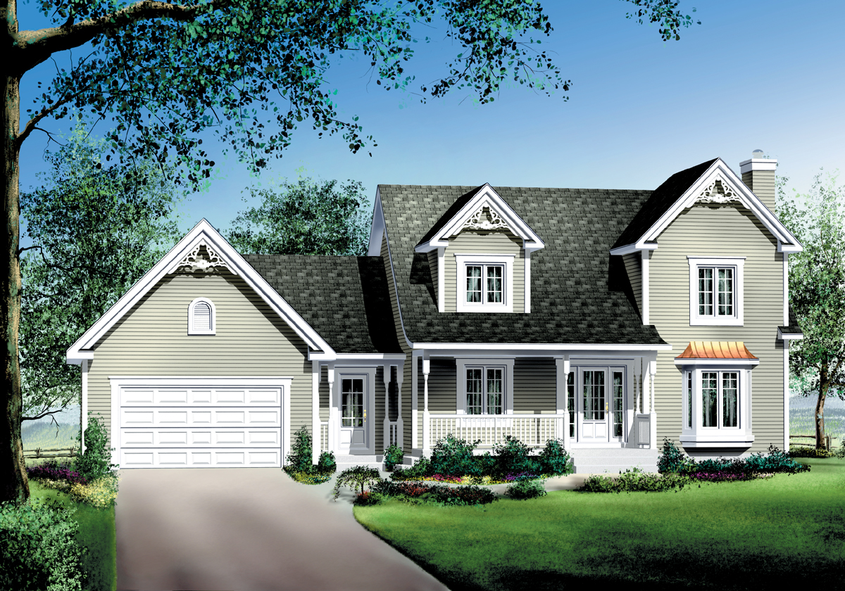 Siding, Brick or Stone House Plan - 80495PM ...