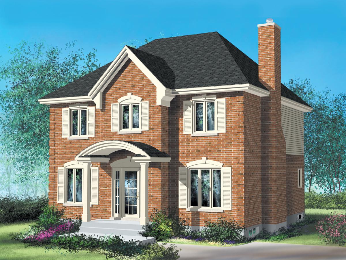 Проекты кирпичных домов фото план дома