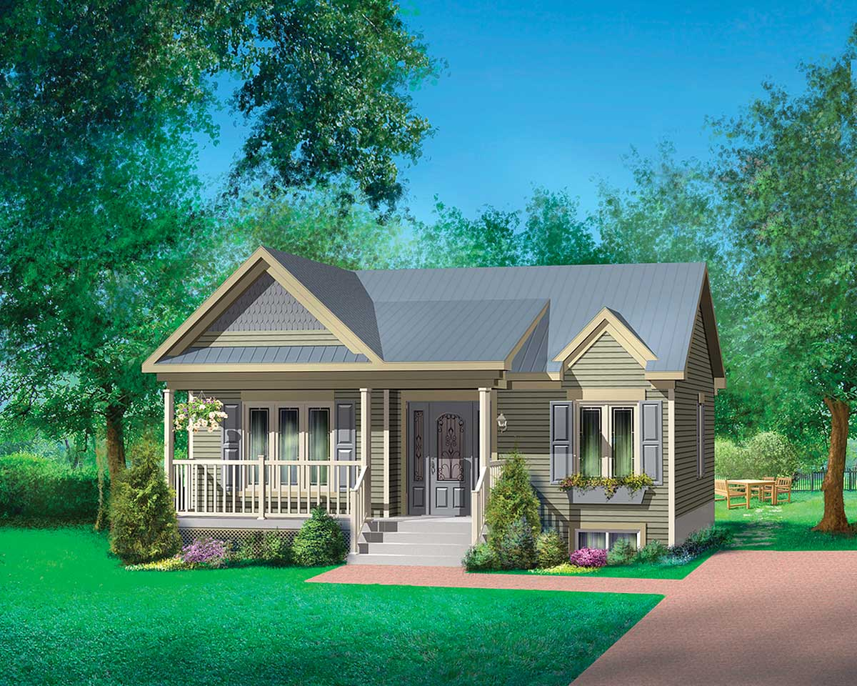 lovely twobedroom home plan  80630pm  architectural