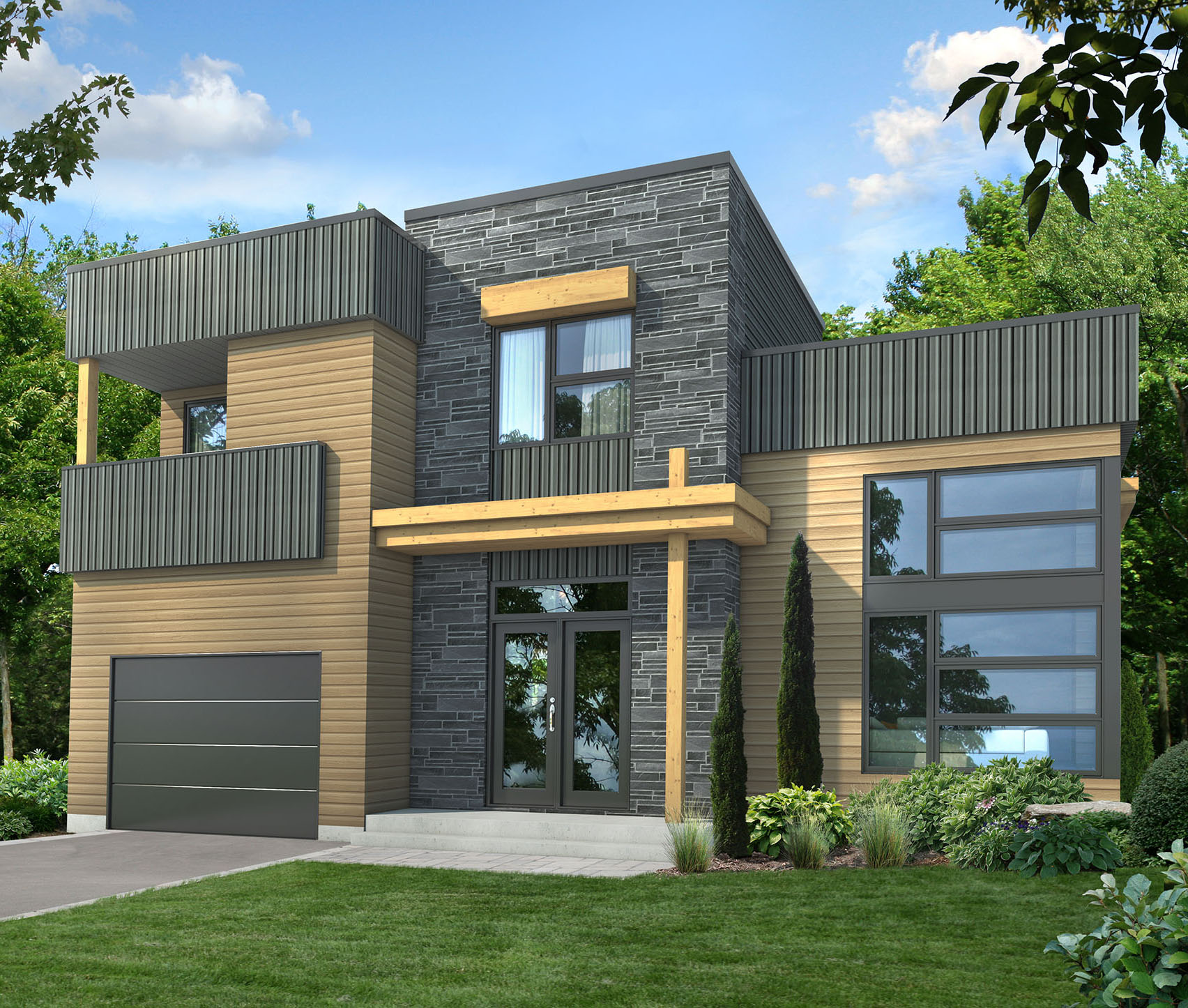 Dynamic Contemporary House Plan - 80782PM
