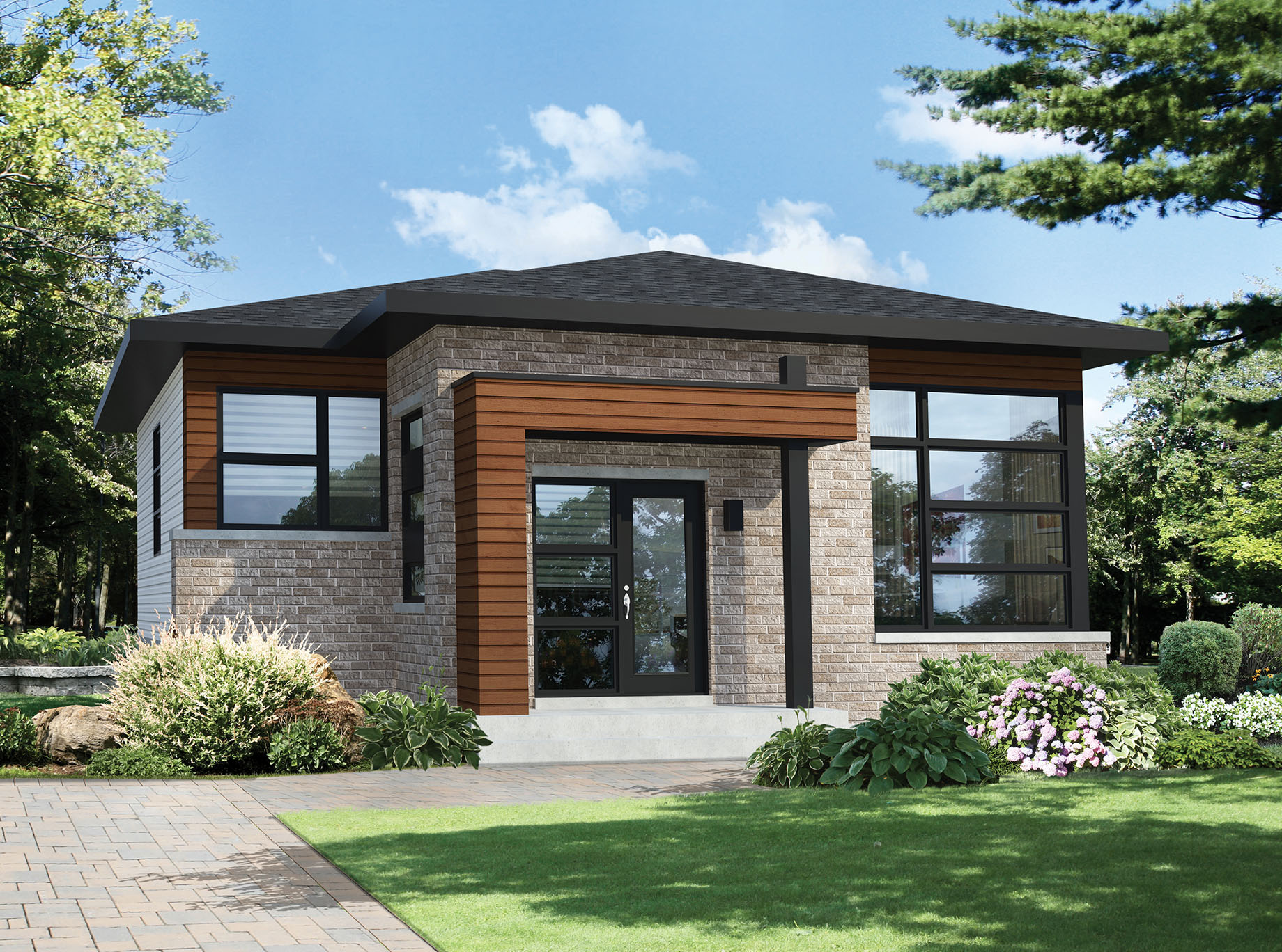 Two Bedroom Modern House Plan - 80792PM | Architectural ...