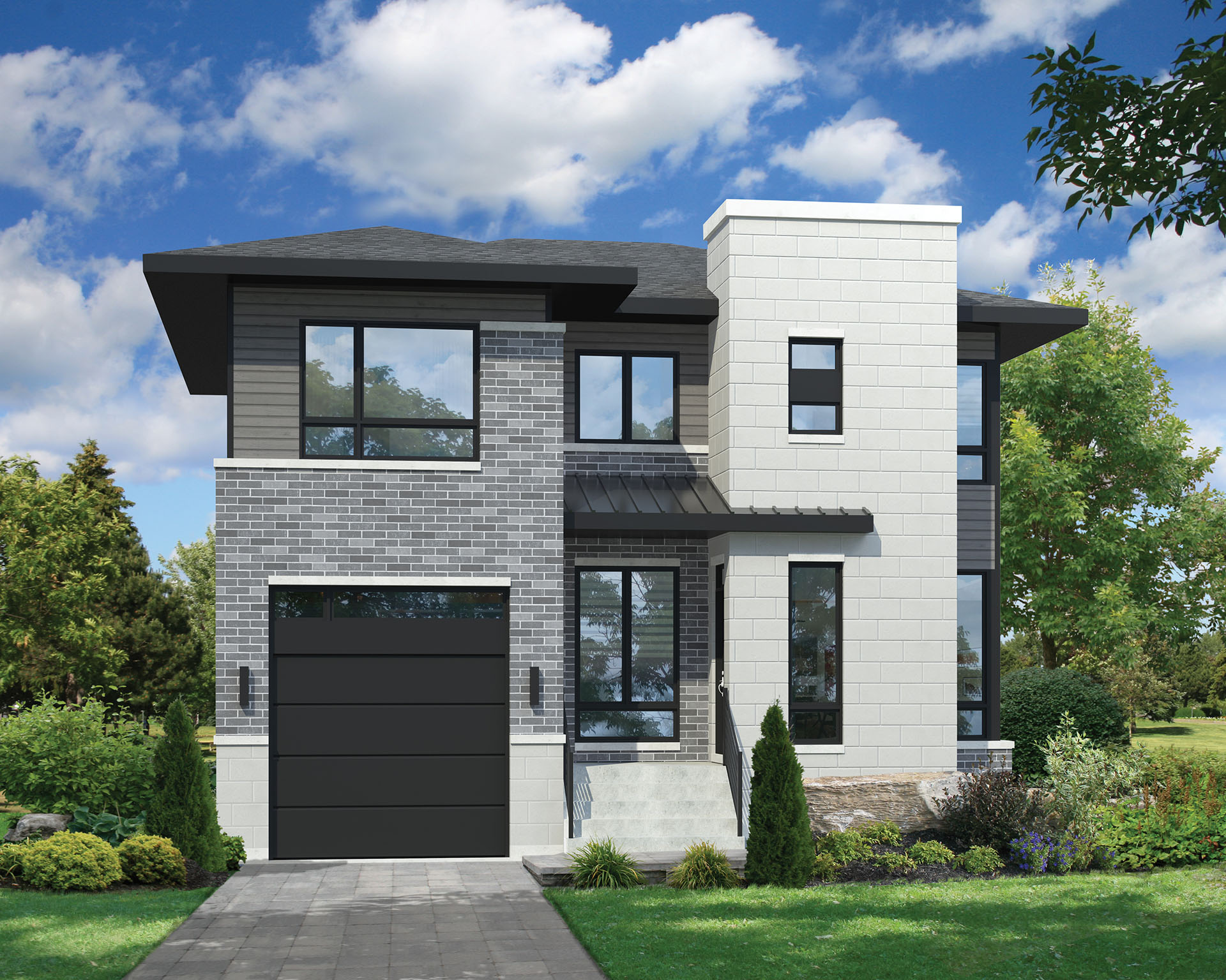 Two-Story Contemporary House Plan - 80806PM ...