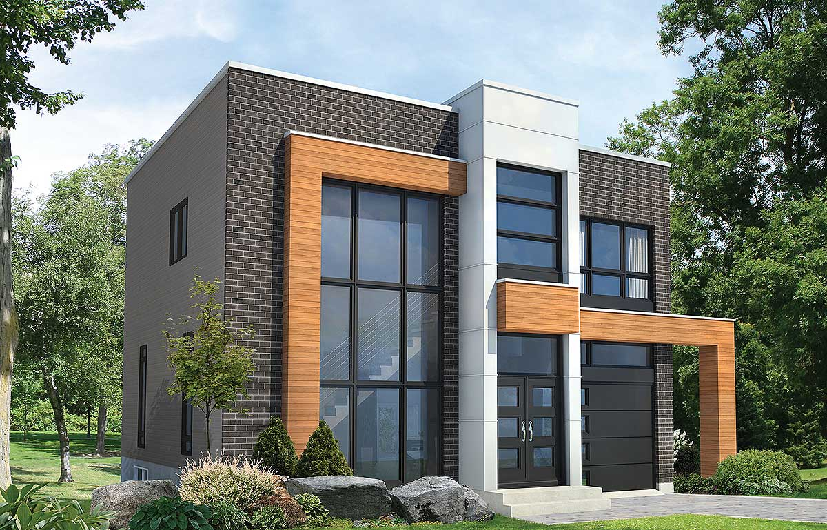 Open Concept Modern House Plan - 80827PM | Architectural ...