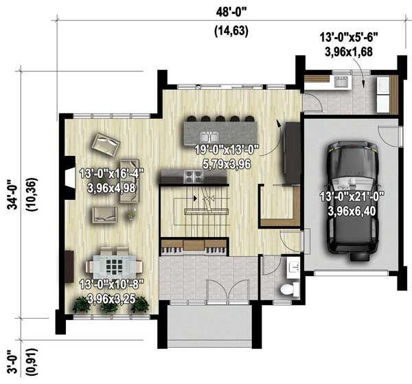 Two Story Modern House Plan 80829pm Architectural Designs House Plans