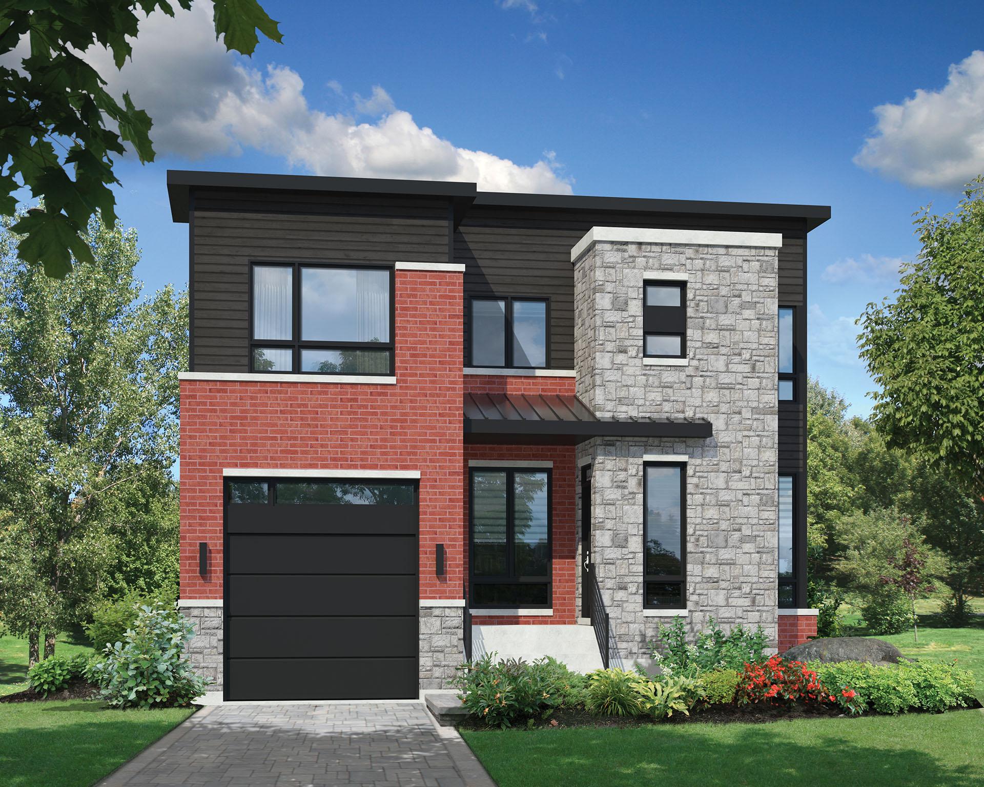 Open Concept Modern House Plan - 80830PM