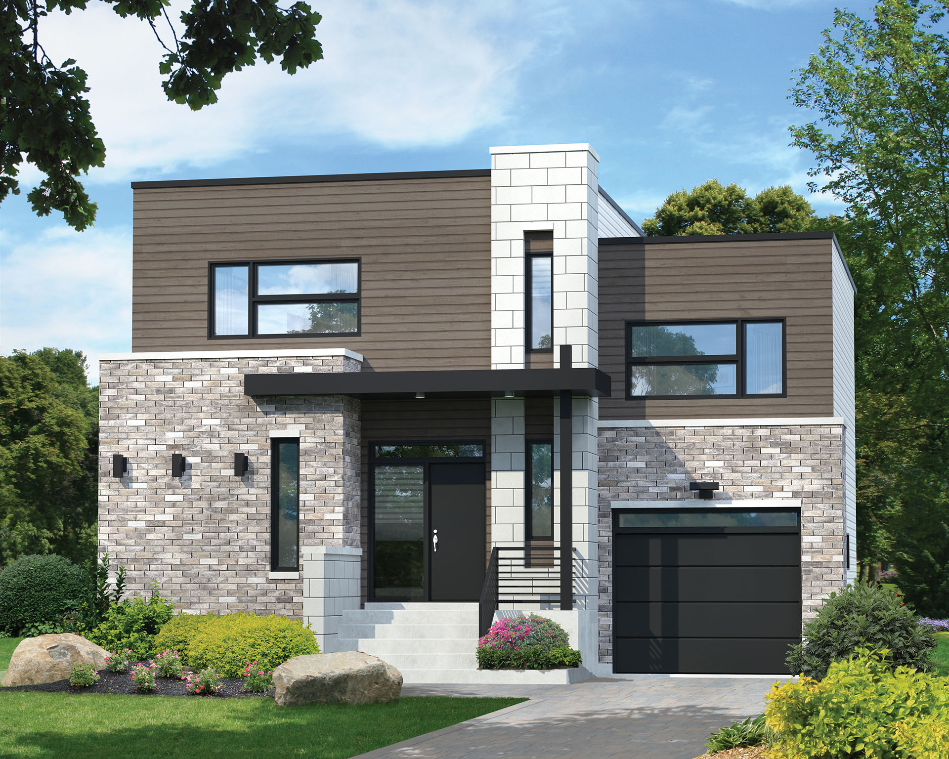 Two-Story Contemporary House Plan - 80831PM ...