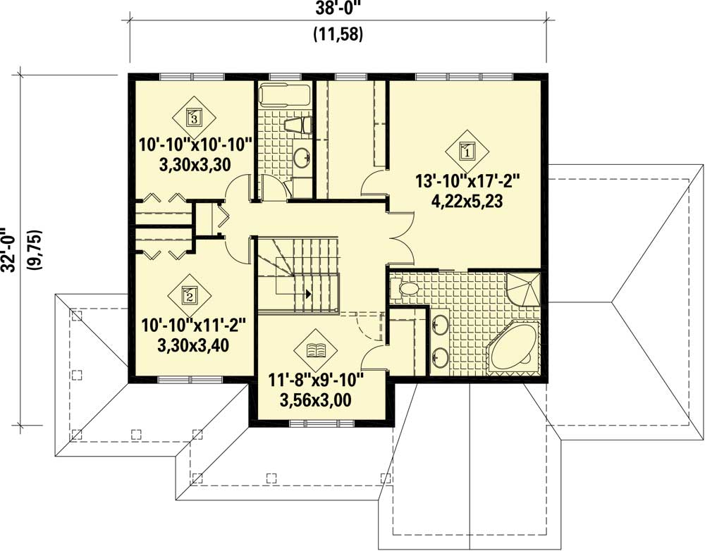 Open Layout Traditional House Plan 80850pm