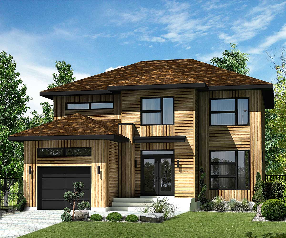 Northwest House Plan With Transoms