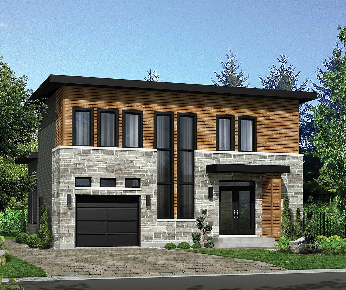 Modern House Plan with Lots of Storage - 80859PM  Architectural Designs - House Plans