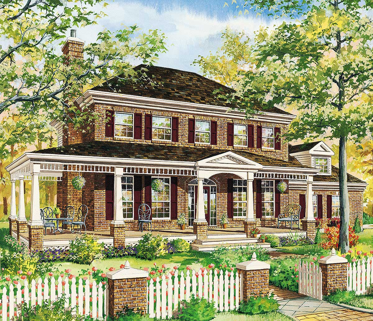 Classic Traditional House Plan - 80860PM