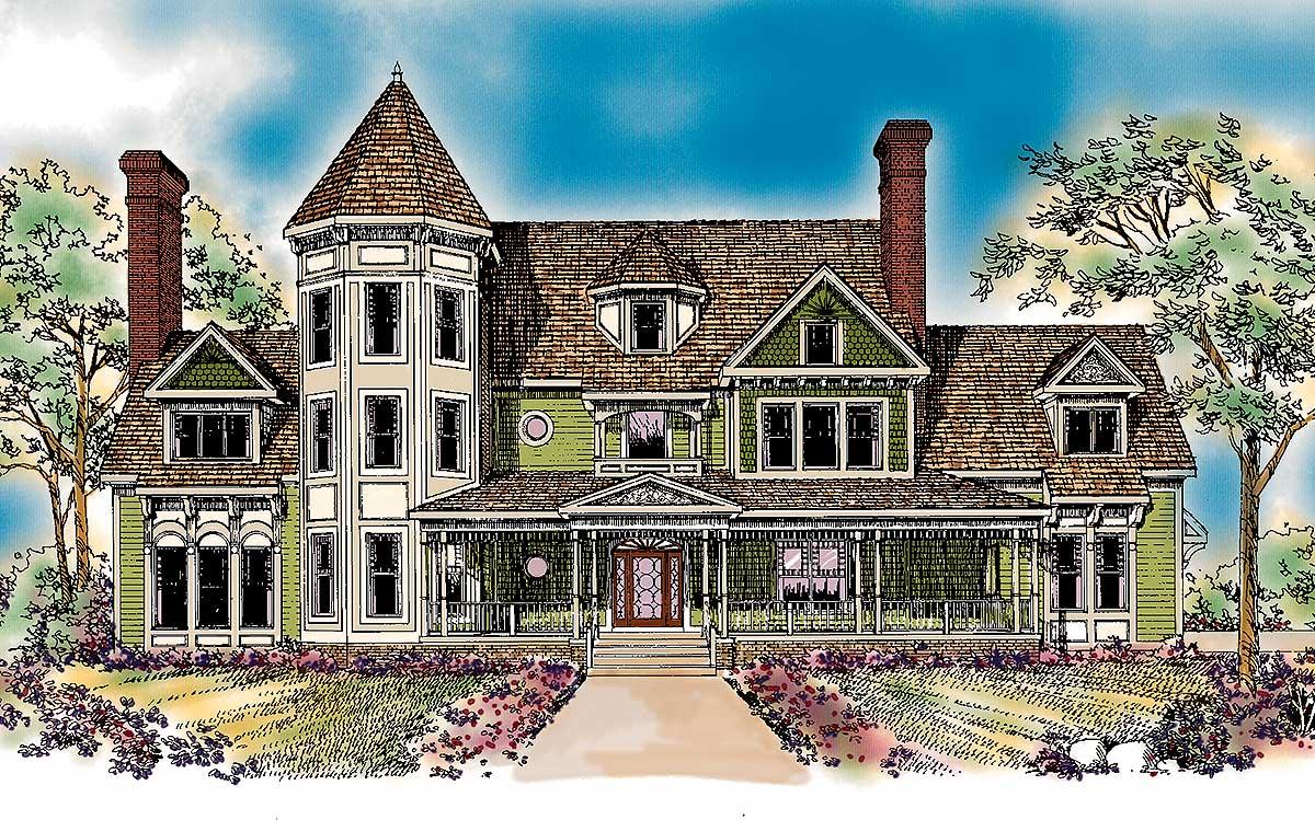 Queen Anne Inspiration - 81207W | Architectural Designs ...