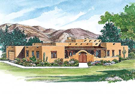 Creative Sante Fe Style Home Plan 81408w Architectural Designs House Plans
