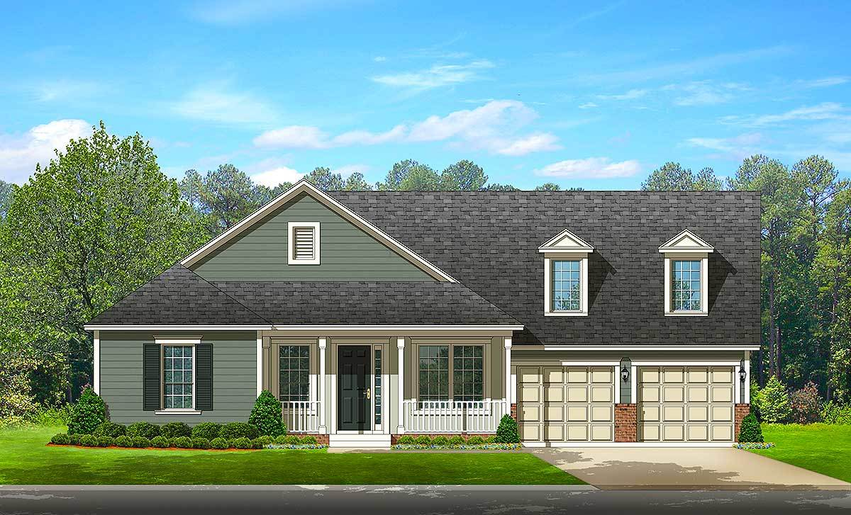 Traditional House Plan With Open Floor Plan 82142ka