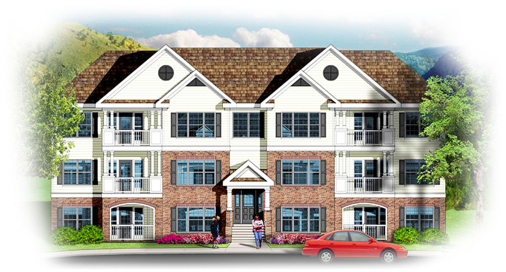 3 Story 12 Unit Apartment Building 83117dc