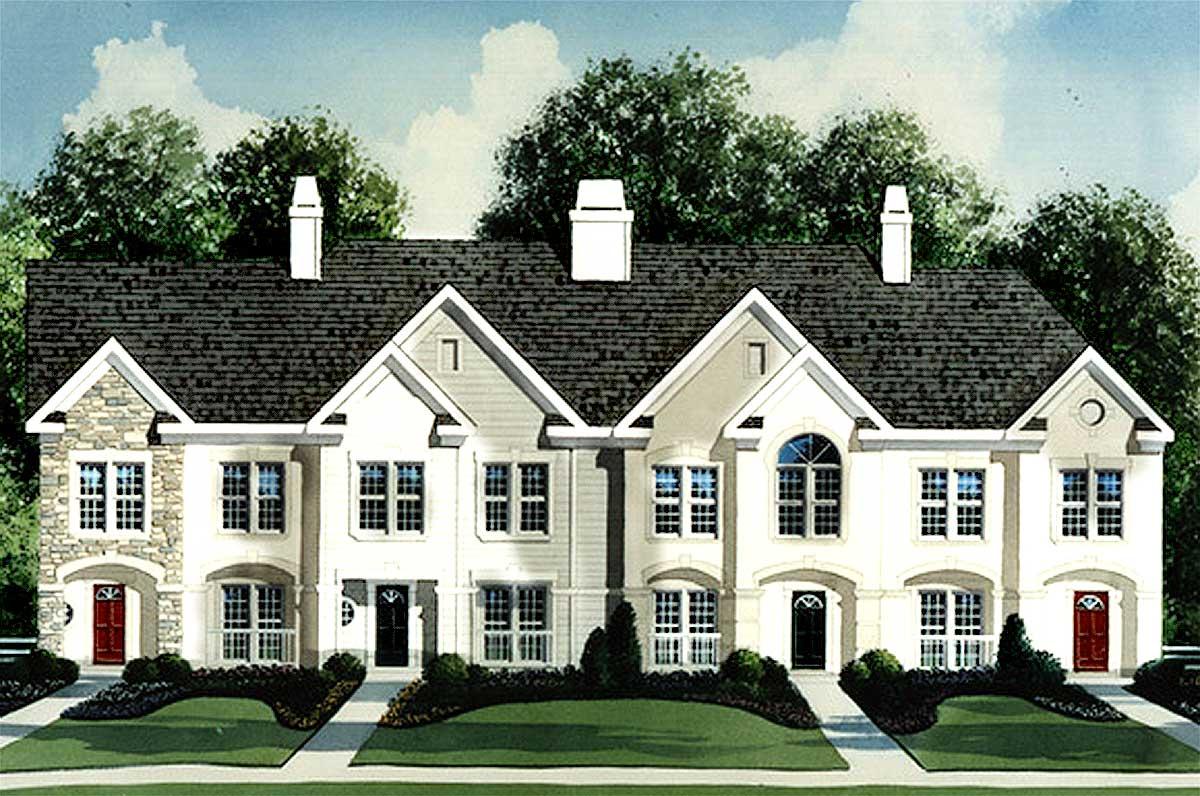 4 Unit Townhouse Plan