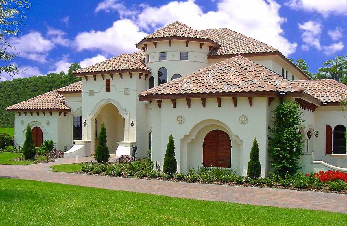 Expansive Mediterranean Luxury Home Plan
