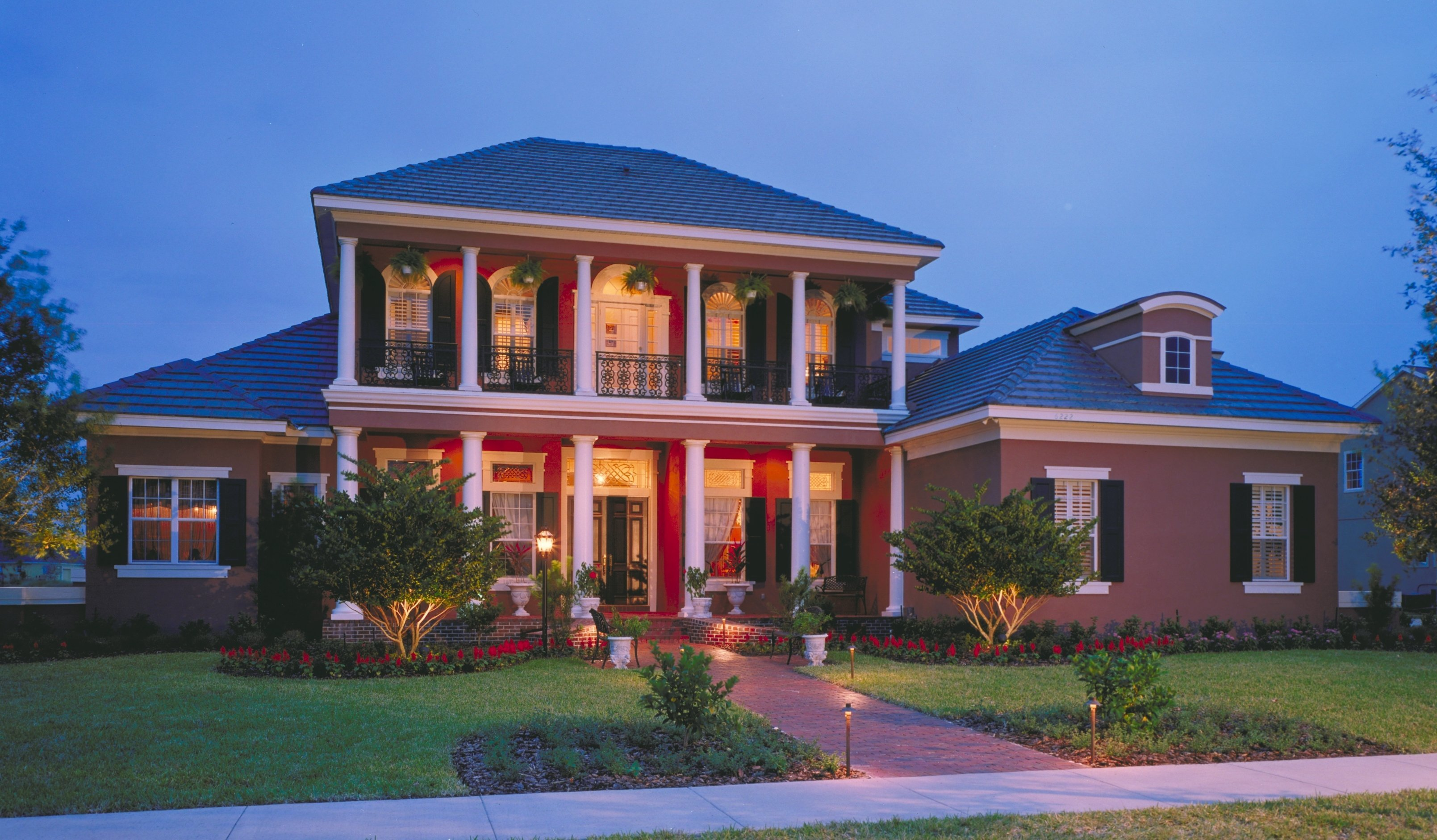 Southern Colonial With Two Story Balcony 83382cl Architectural Designs House Plans