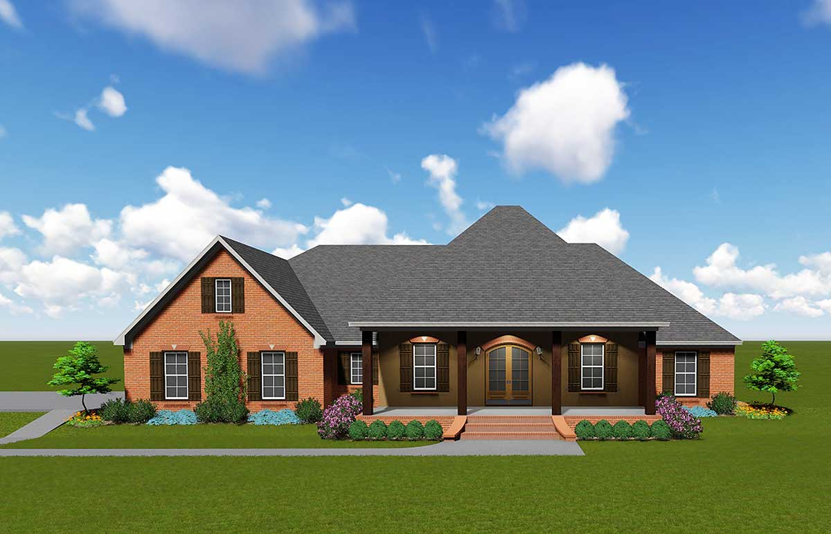 Sprawling Southern House Plan - 83868JW | Architectural ...
