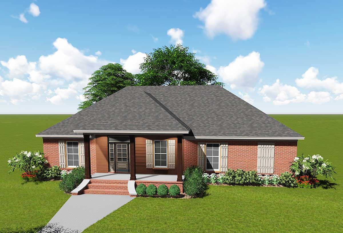 Acadian House Plan with Safe Room - 83875JW ...