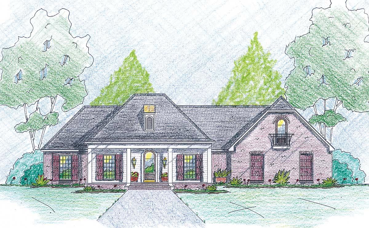 Stately Two Car Garage 92049vs: Stately Home Plan With Bonus Room