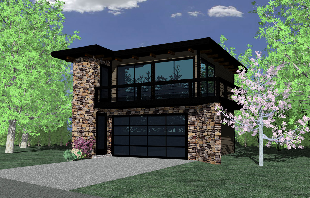 Contemporary Garage Studio - 85022MS | Architectural ...