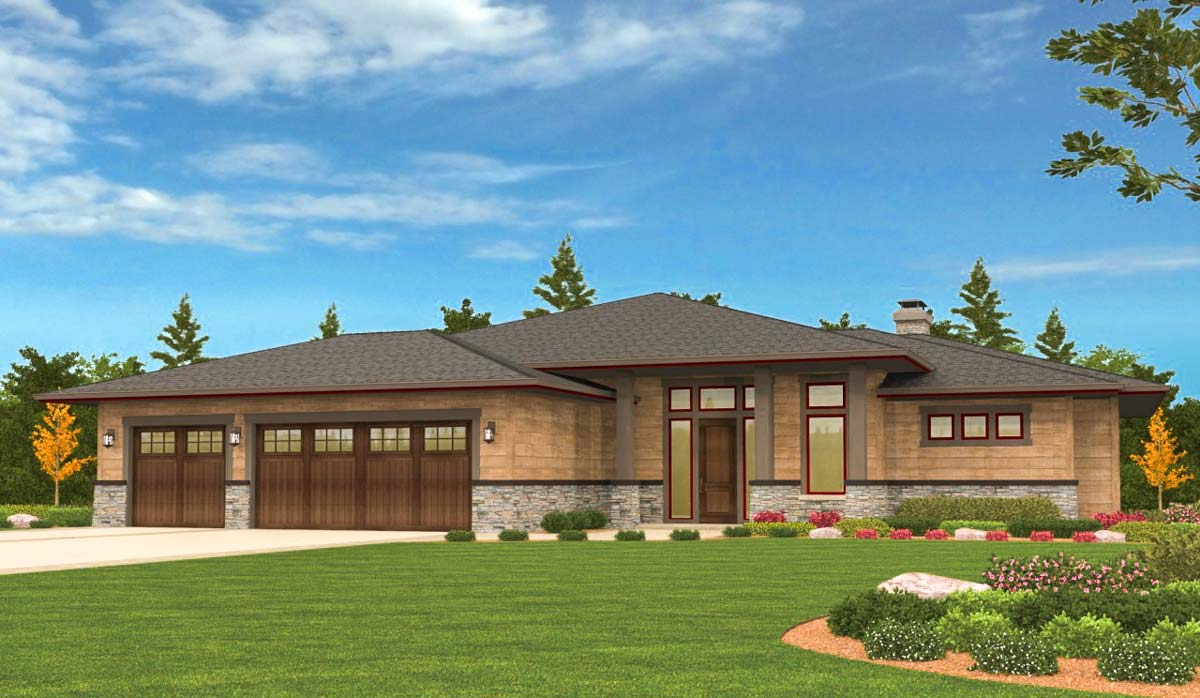 Prairie Ranch Home with Walkout Basement - 85126MS ...