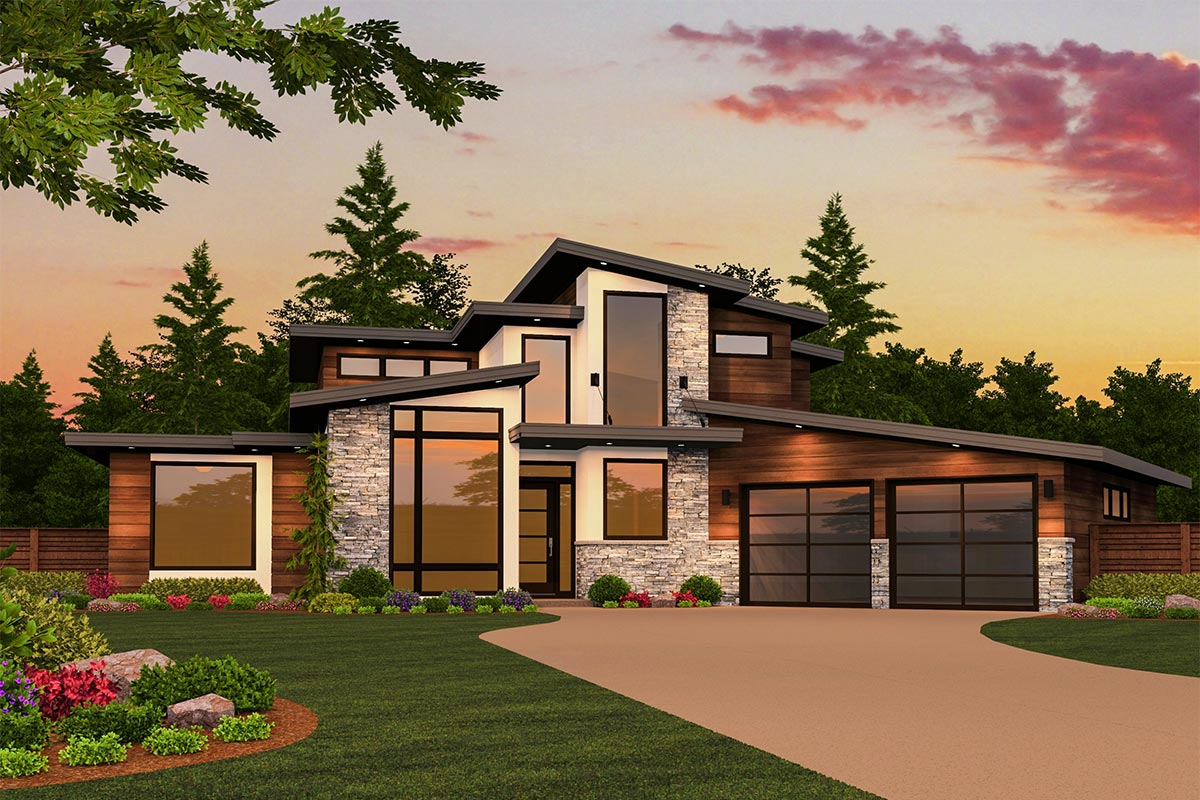 architectural design floor plans modern masterpiece with up to 5 beds 85130ms architectural designs house plans 3585