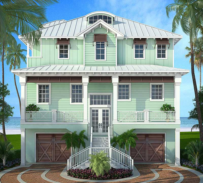 Home Design Ideas Floor Plans: Stylish Beach House Plan - 86008BW