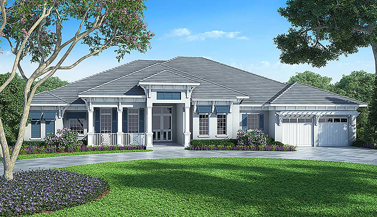 86017bw_1477586603_1479214371 Large Single Story House Plans Florida Lania on