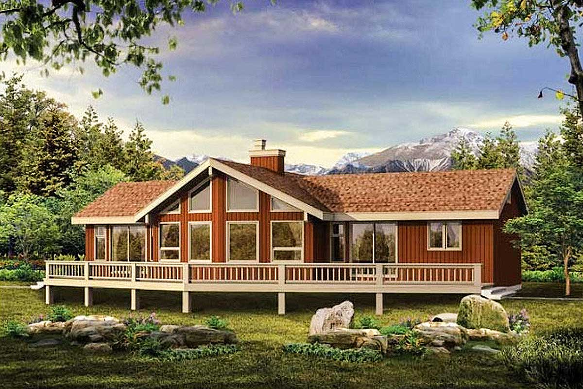 88119sh_rendering Open Floor Plans Story Lake House With on 1 story accessible house plans, craftsman open floor house plans, blueprints for houses with open floor plans, open-concept floor plans, contemporary open floor house plans, colonial open floor house plans,