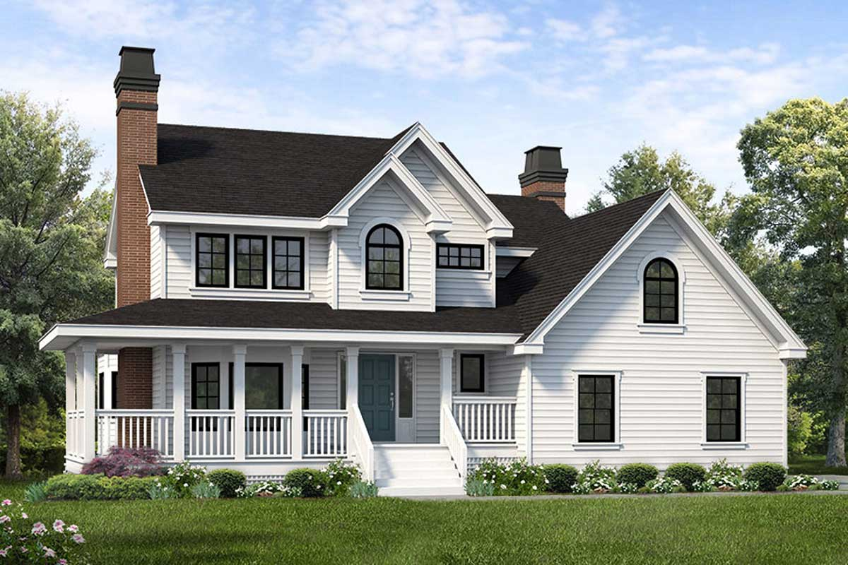 3 Bed Country Home Plan With Upstairs Vaulted Master Suite