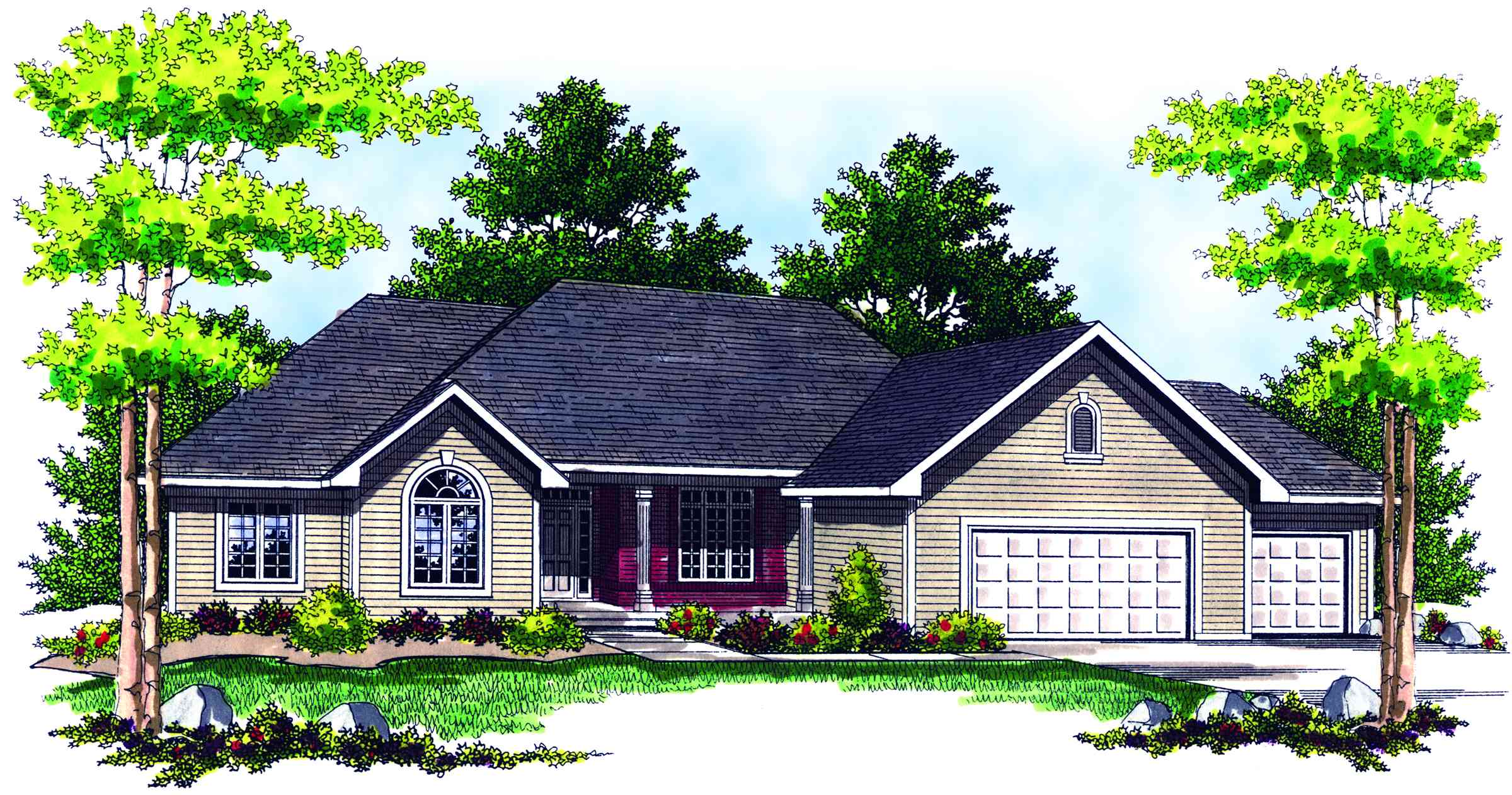 Traditional Ranch Home Plan - 89132AH