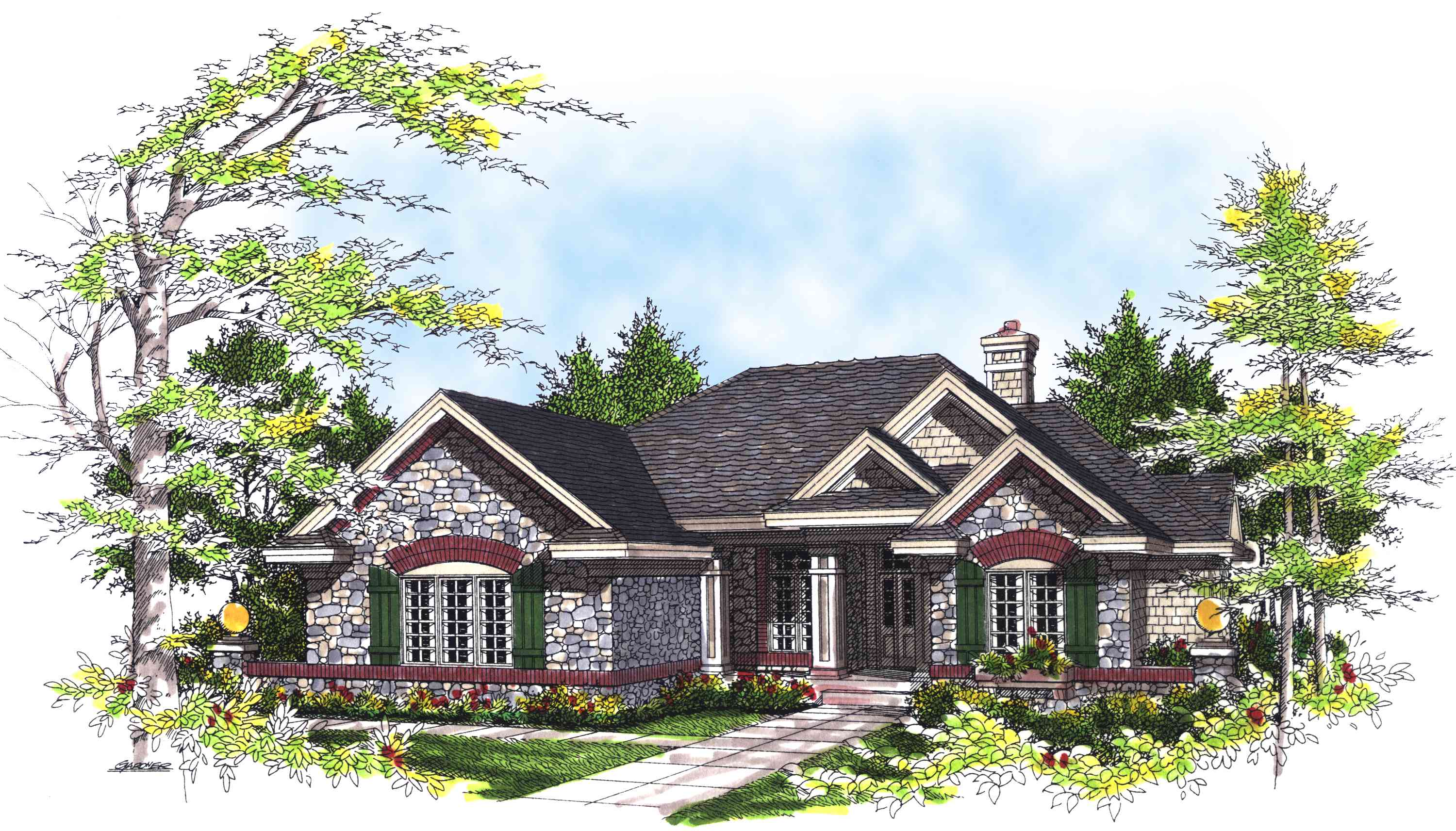 Lovely Stone Cottage 89487ah Architectural Designs House Plans