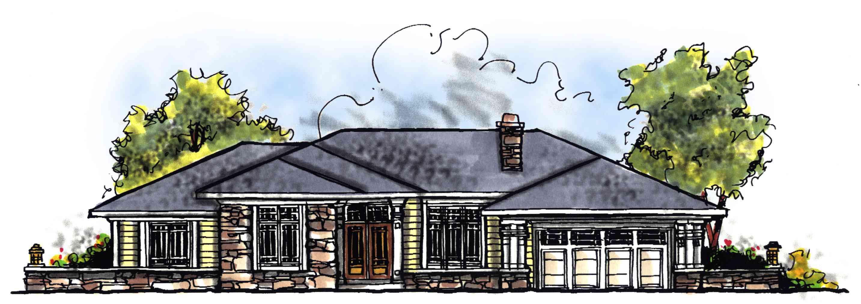 Prairie Style Ranch Home Plan 89520ah Architectural