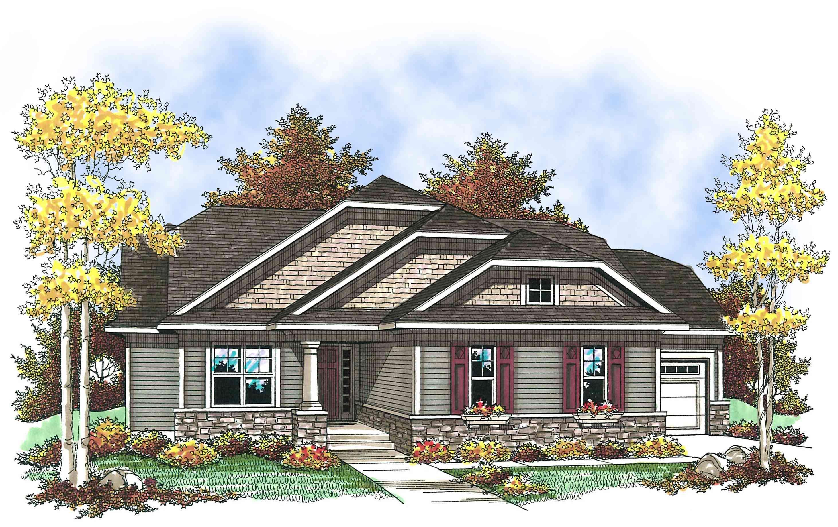 Craftsman with Open Floor Plan - 89652AH   Architectural ...