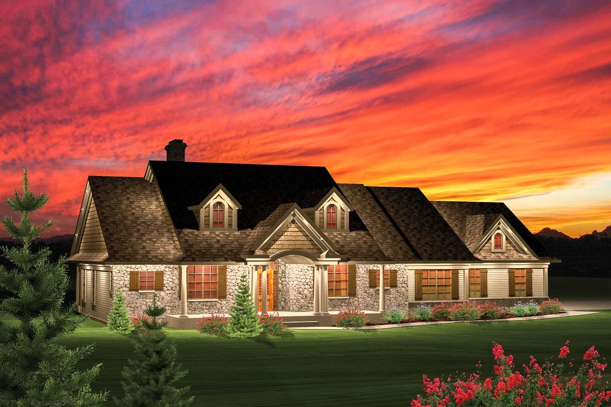 3 Bedroom Rambling Ranch - 89821AH | Architectural Designs ...