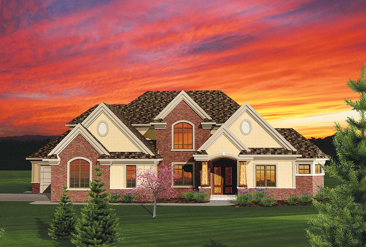 4-Bedroom House Plan With 2-Story Great Room - 89831AH ...