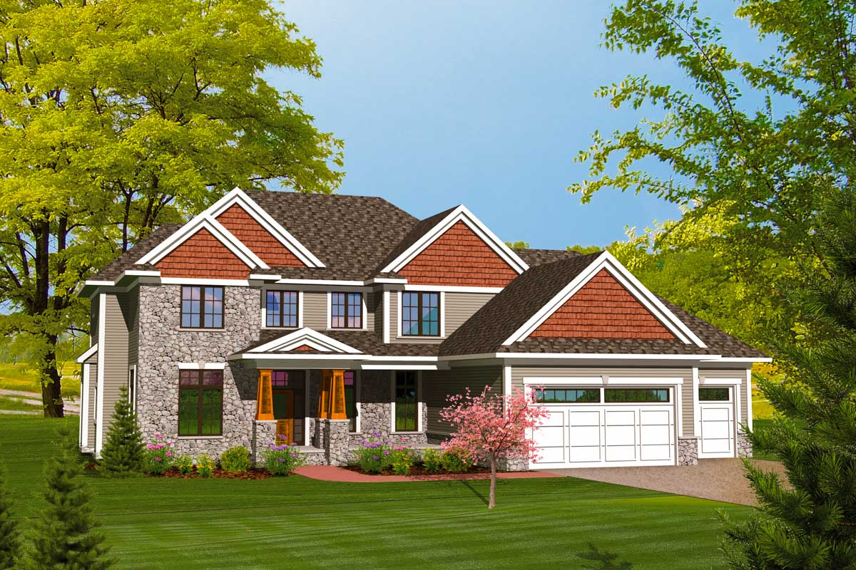 4  Bedroom  Home  Plan  with Upstairs Laundry 89833AH