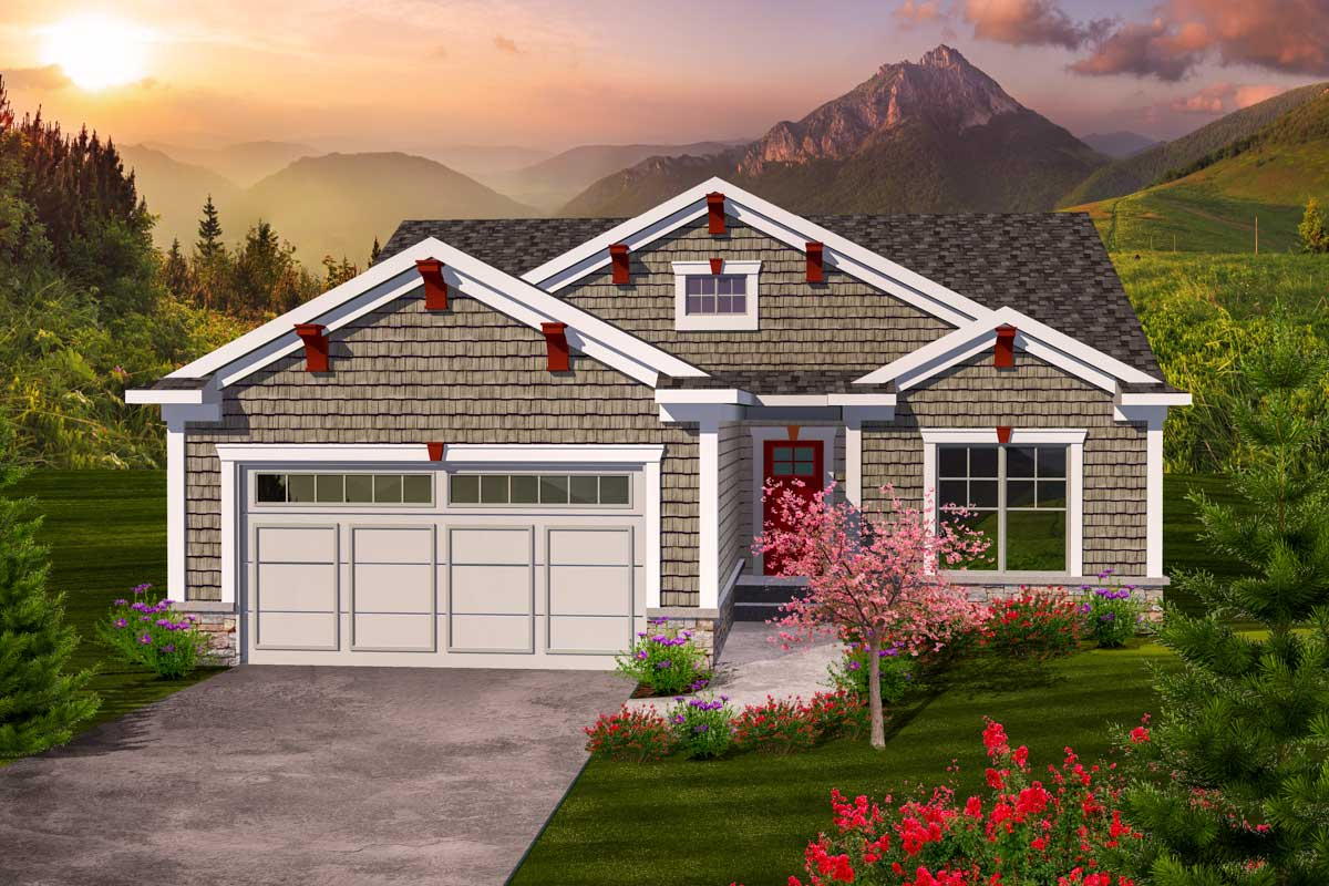 Charming 2 Bedroom Ranch Home Plan - 89860AH ...